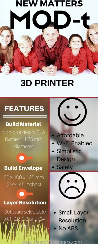The New Matter MOD-t 3D Printer Features